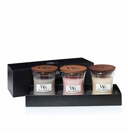 Woodwick WOODWICK FIRESIDE 3 SMALL JARS GIFT SET
