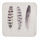 Kitchen Craft CREATIVE TOPS PREMIUM FEATHERS PACK 6 COASTERS