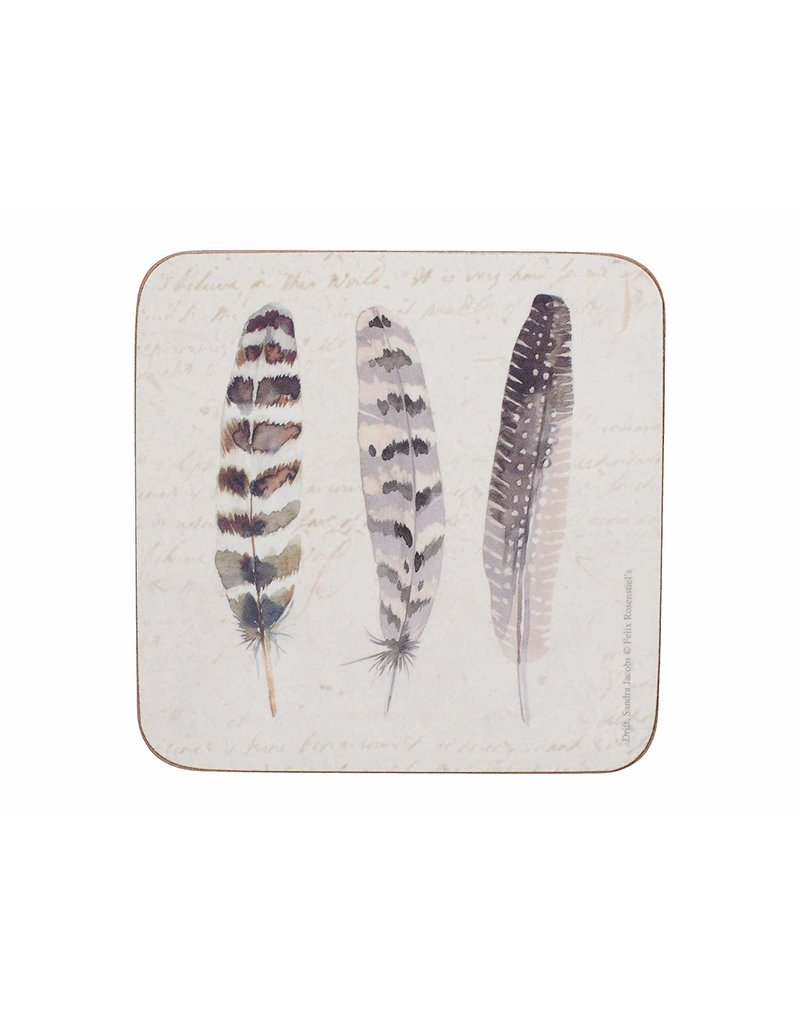 CREATIVE TOPS PREMIUM FEATHERS PACK 6 COASTERS