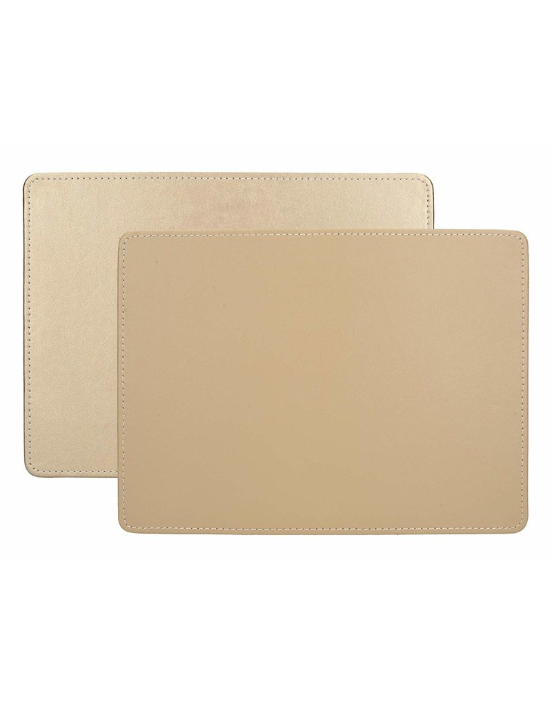 CREATIVE TOPS PREMIUM STITCHED FAUX LEATHER PACK 4 MATS METALLIC GOLD