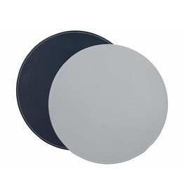 Creative Tops CREATIVE TOPS PREMIUM ROUND FAUX LEATHER PACK OF 4 MATS GREY