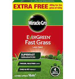 EVERGREEN 480G FAST GRASS LAWN SEED 14M2+EXTRA FILL