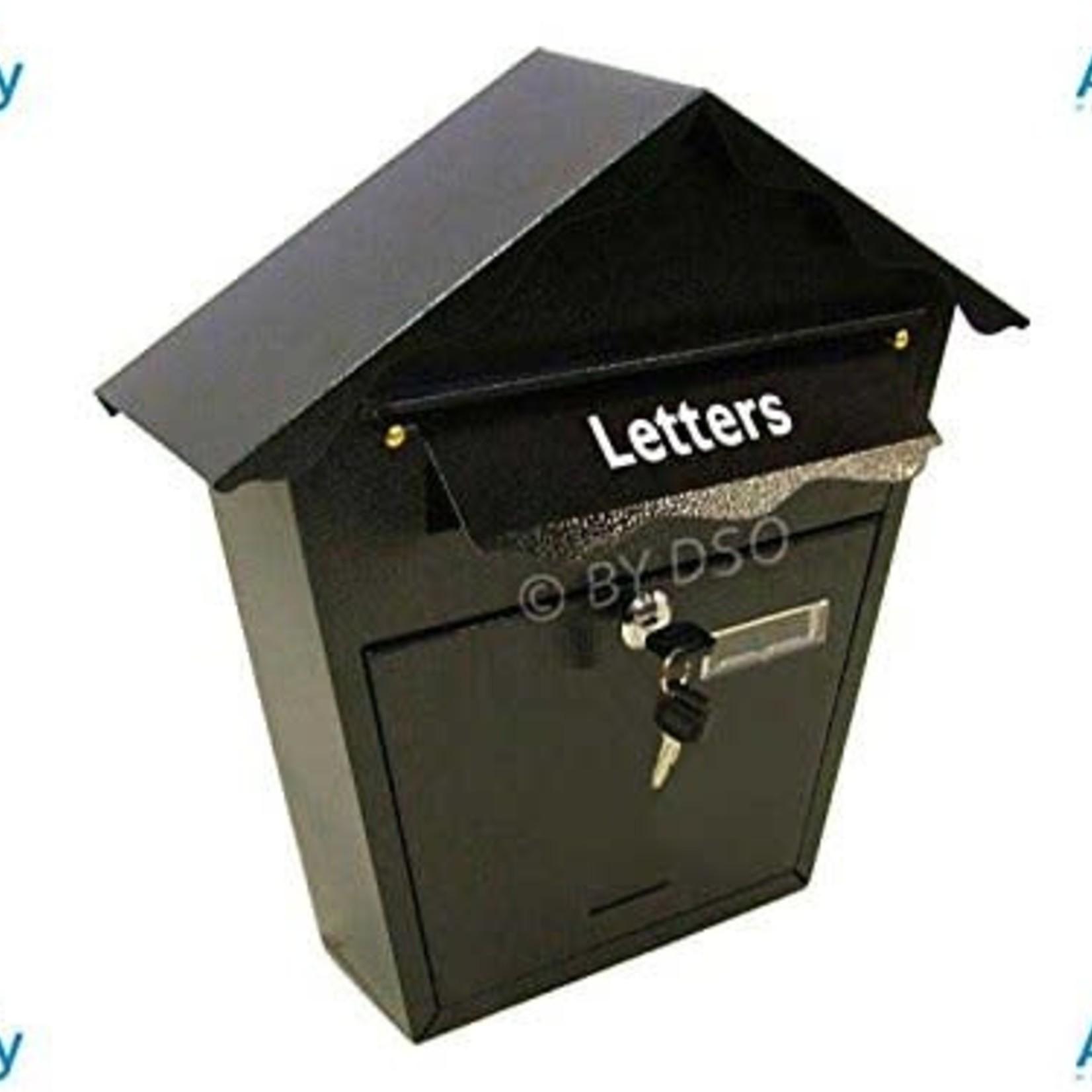 ASHLEY MAILBOX POST BOX STEEL PLATE, 360MM X 360MM X 100MM