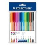 Staedtler Pack of 10 Colour Ballpoint Pens