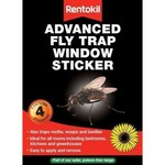 Rentokil RENTOKIL WINDOW STICKER FLY TRAP 4'S