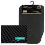JVL Set of 4 Heavy Duty Reversible Carbon Luxury Rubber Car Mat Set Universal Size