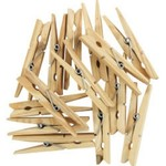 ELLIOTTS PINEWOOD WOODEN CLOTHES PEGS 36 PACK