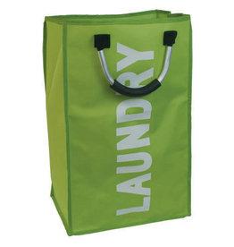 JVL JVL Large Polyester Single Laundry Pop Up Bag Home Storage Basket Hamper - Green