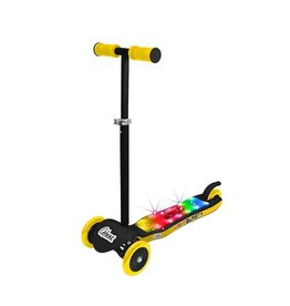 Ozbozz SV13941 Light Burst Scooter Black & Yellow, Black and Yellow