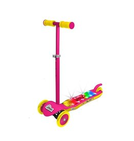 Ozbozz Light Burst Scooter Pink & Yellow - SV13942