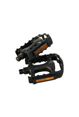 """IGNITE 9/16"""" Bicycle BMX MTB Adult Mountain Cycle Bike Black Reflector Pedals"""