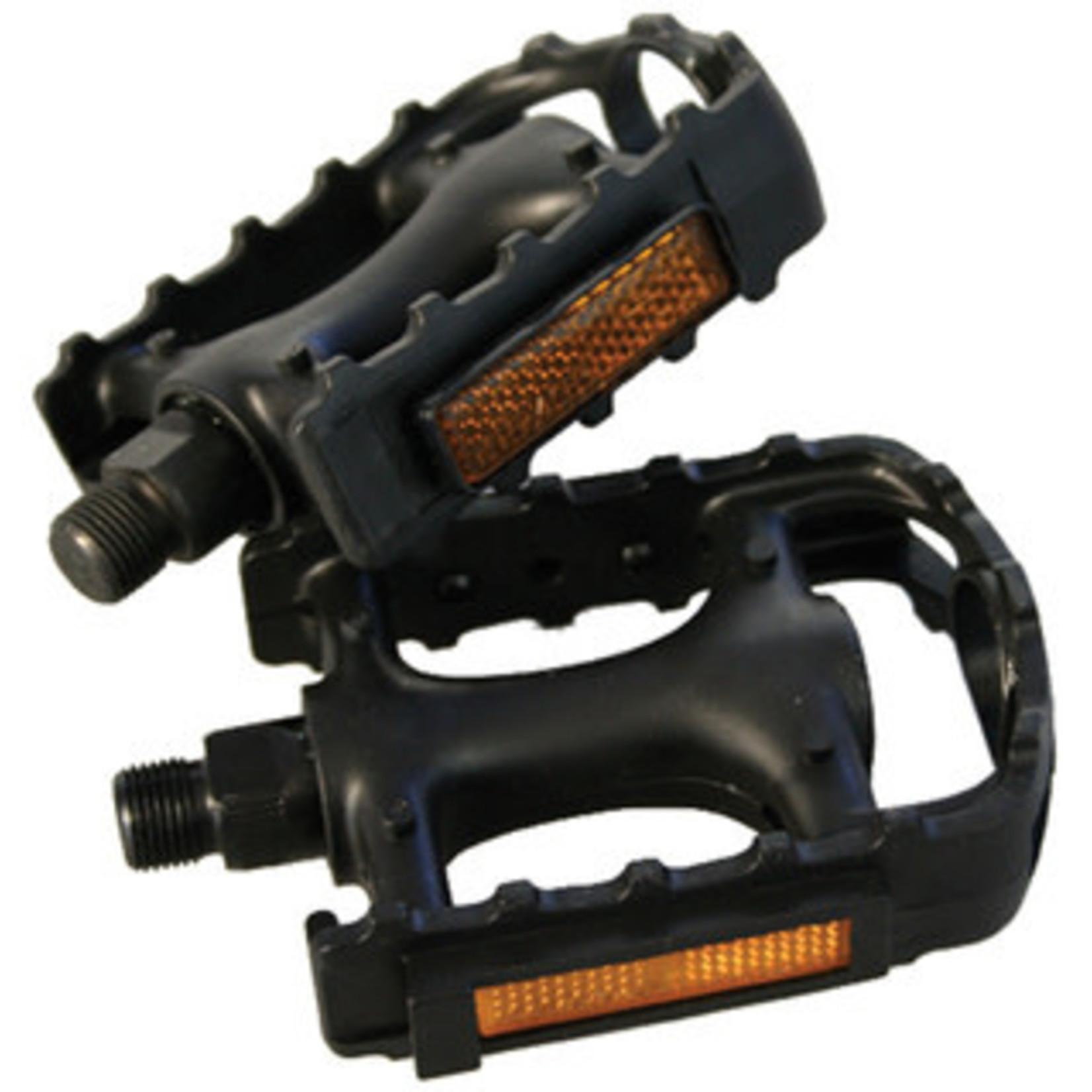 "IGNITE 9/16"" Bicycle BMX MTB Adult Mountain Cycle Bike Black Reflector Pedals"