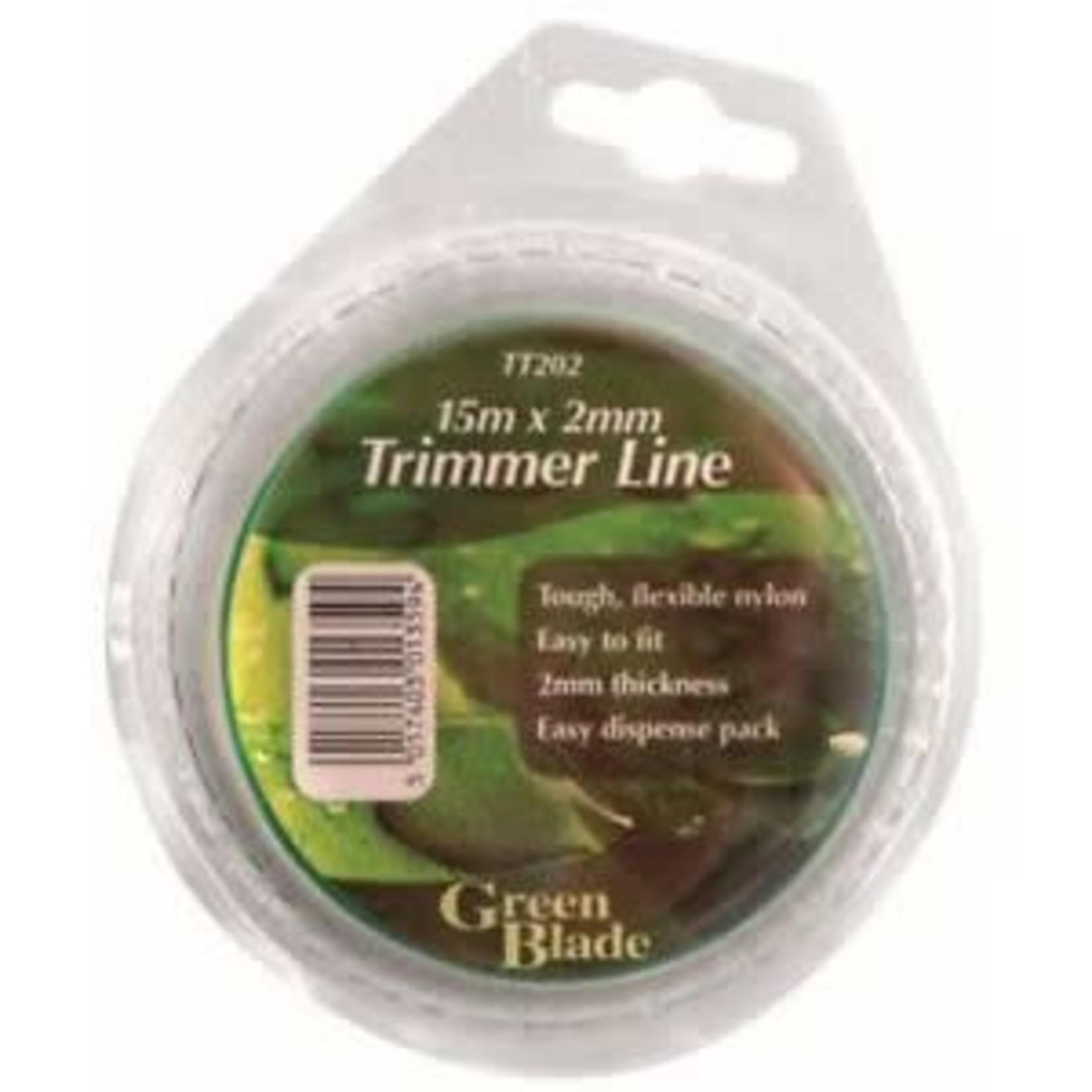 GREEN BLADE 15M X 2MM TRIMMER LINE GREEN