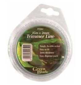 GREEN BLADE 15MX2MM TRIMMER LINE GREEN