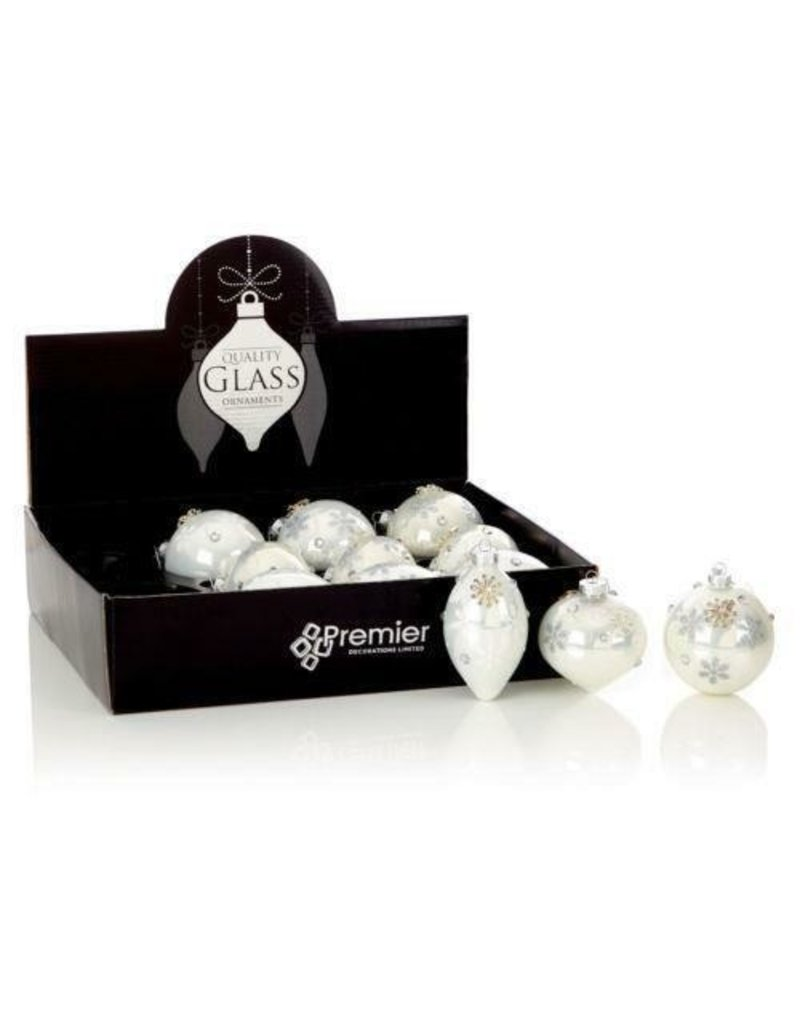 Premier 3 Asst 80-110mm Pearl Silver Dec Ball-Onion-Drop in CDU