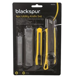 Blackspur BLACKSPUR UTILITY KNIFE SET 4PCE