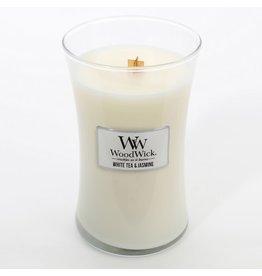 Woodwick WOODWICK WHITE TEA & JASMINE - LARGE CANDLE