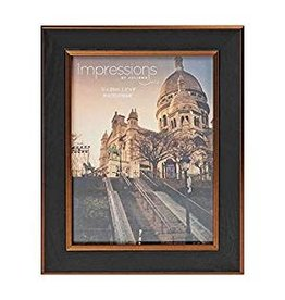 "Impressions Black & Gold Plastic Photo Frame 6"" x 8"""