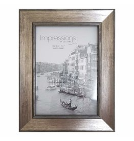 "Impressions Tarnished Pewter Look Photo Frame5"" x 7"""