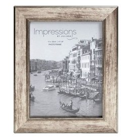 "Impressions Tarnished Pewter Look Photo Frame 6"" x 8"""
