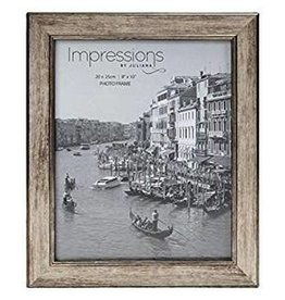 "Impressions Tarnished Pewter Look Photo Frame 8"" x 10"""