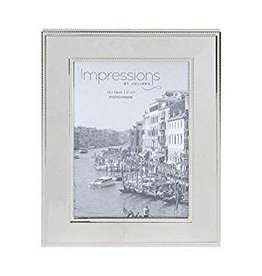 "Nickel Plated Steel Photo Frame 5"" x 7"""