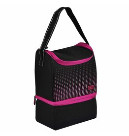 POLAR GEAR ACTIVE PERSONAL DUAL COMPARTMENT 6 LITRE COOL LUNCH BAG - PINK