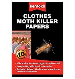 Rentokil RENTOKIL CLOTHES MOTH KILLER PAPERS 10 PAPERS
