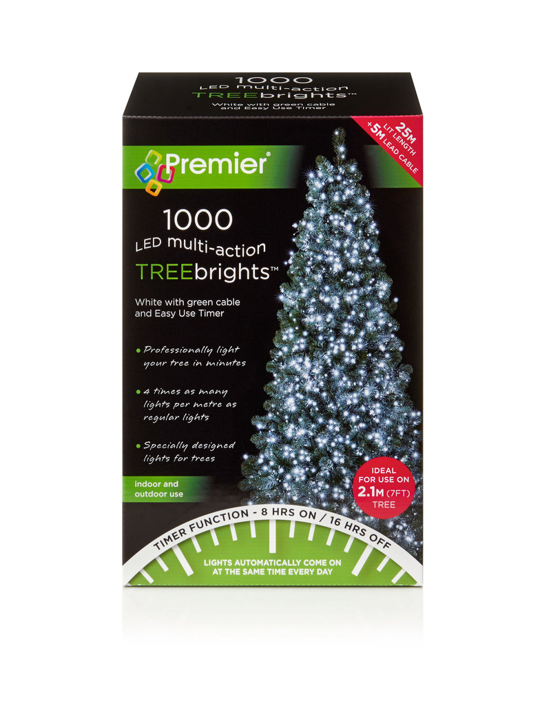 1000 M-A Led TreeBrights Timer White