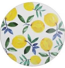 Creative Tops CREATIVE TOPS ROUND LEMON SET OF 4 PLACEMATS