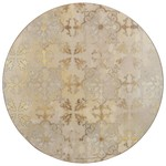 Kitchen Craft CREATIVE TOPS ROUND GOLD IMPRESSIONS SET OF 4 PLACEMATS