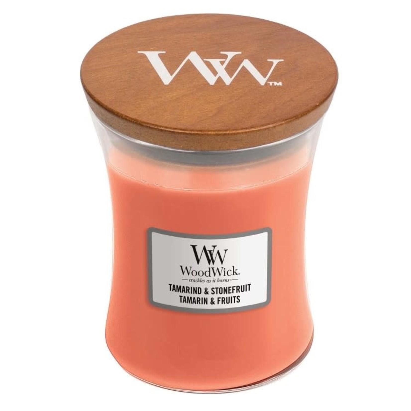 Woodwick WOODWICK TAMARIND AND STONEFRUIT MEDIUM CANDLE