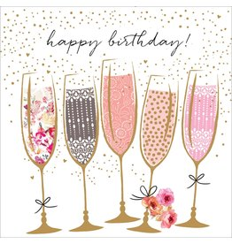 Portfolio Cards SM/Birthday Champagne Card