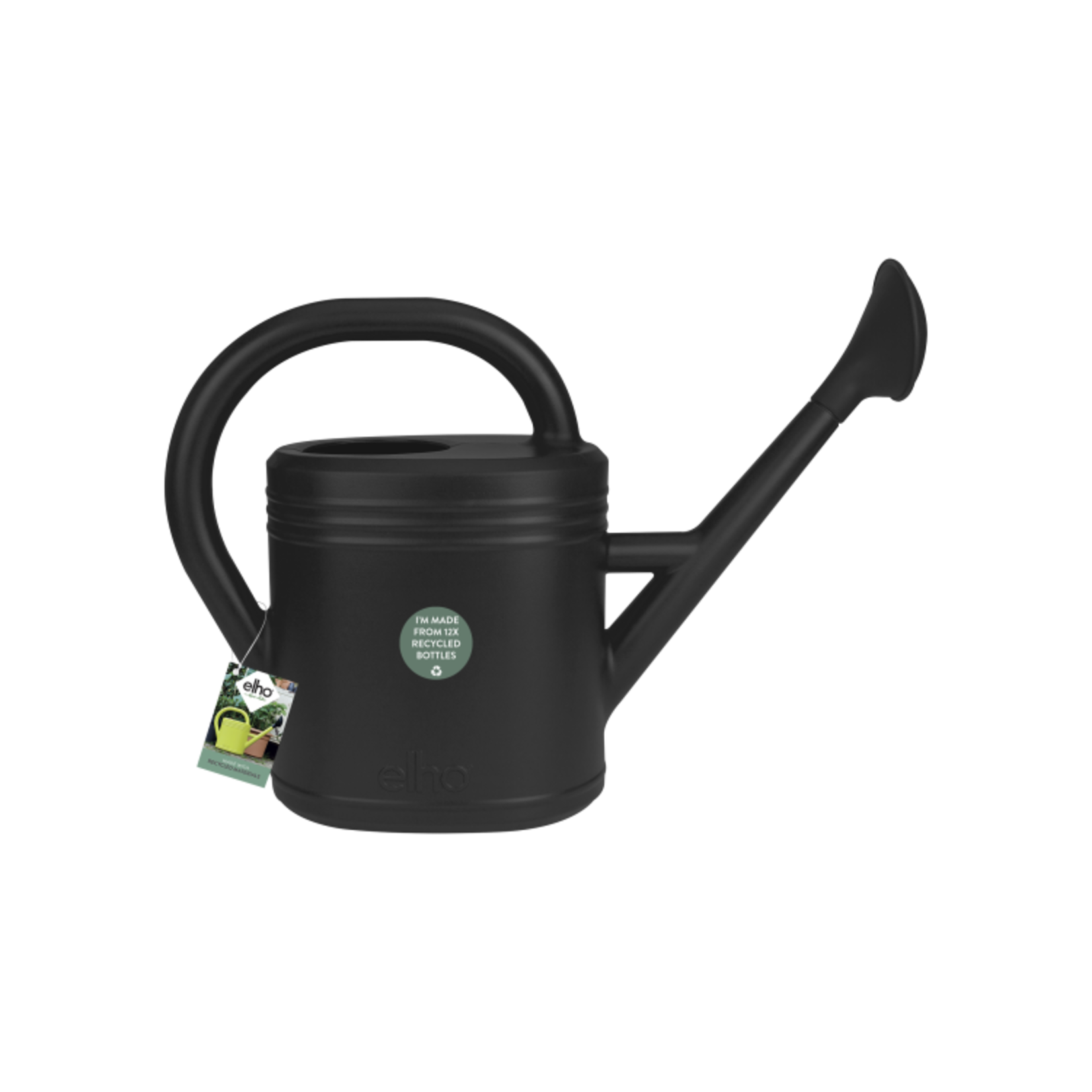Elho Elho Green Basics Watering Can 10L Living Black