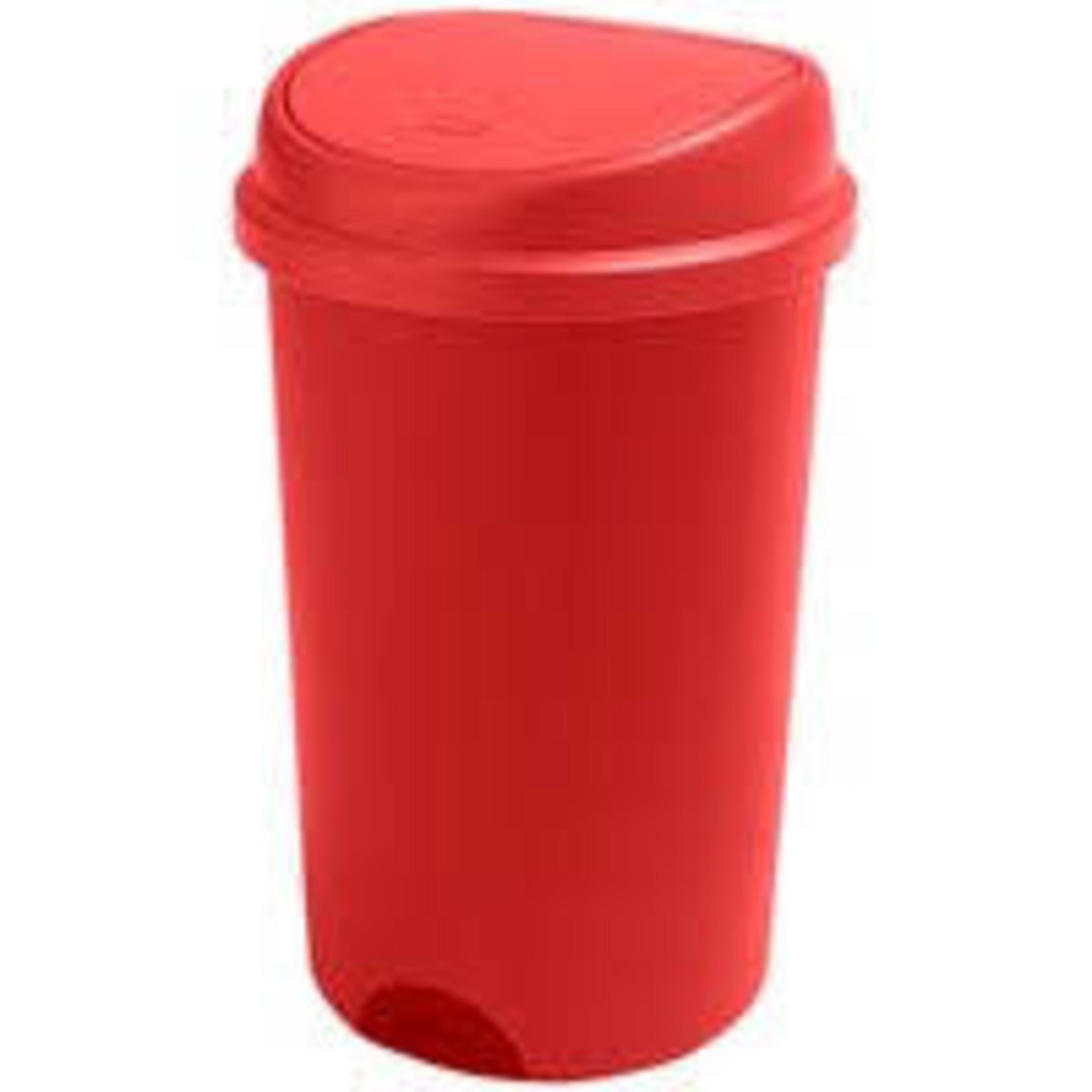 Addis ADDIS 50L PRESS TOP PLASTIC BIN ROASTED RED