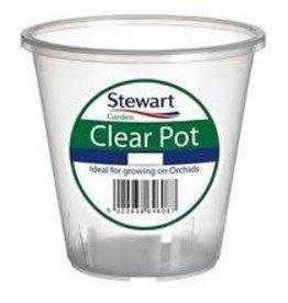 Stewart Garden STEWARTS  CLEAR POT 13CM