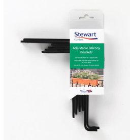 Stewart Garden STEWARTS  ADJUSTABLE BALCONY BRACKETS FOR TROUGHS TO FIT 40-100CM TROUGHS