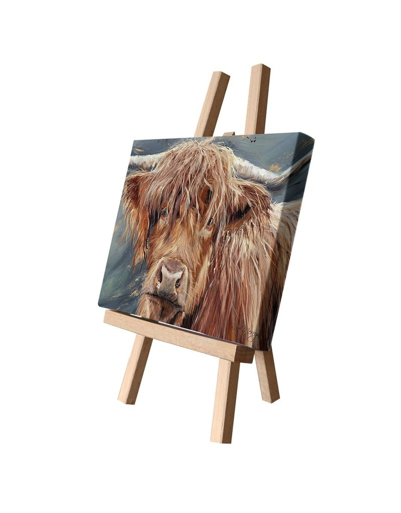 Bree Merryn Bonny Canvas Cutie 15 x 20 - Highland Cow