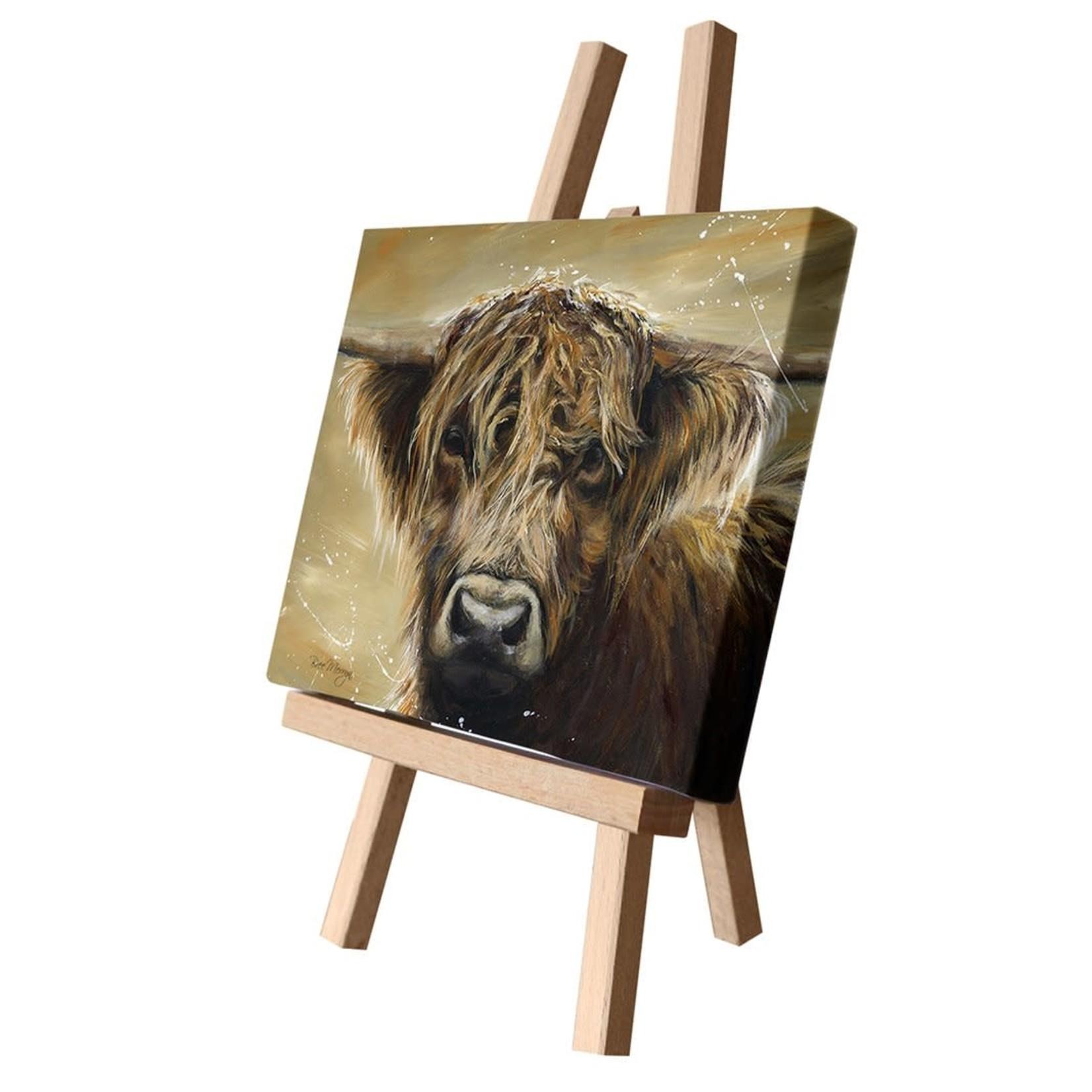 Bree Merryn Colourful Hamish Canvas Cutie 15 x 20 - Highland Cow