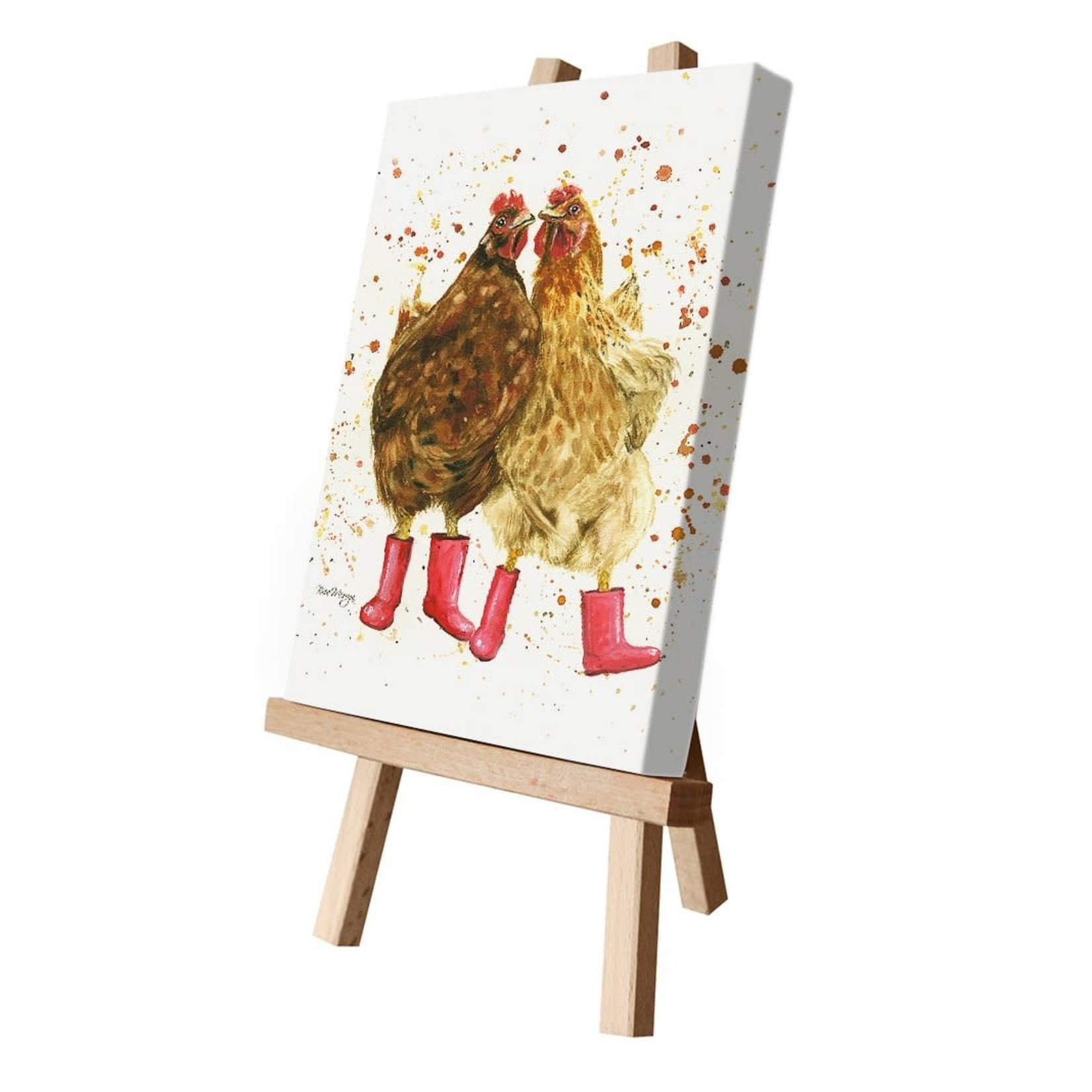 Bree Merryn Chick Chat in Boots Canvas Cutie 15 x 20 - Chickens