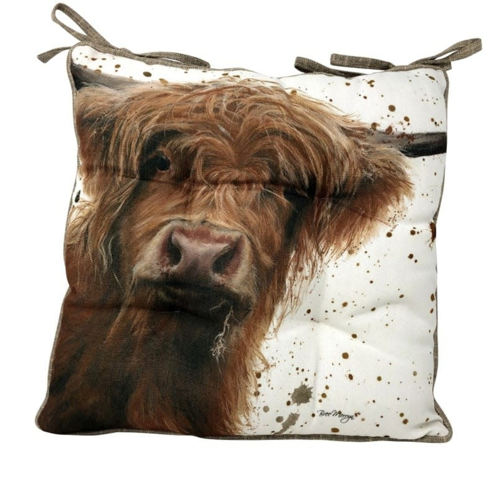 Bree Merryn BETSY SEAT PAD FEATHERED CUSION 40x40CM