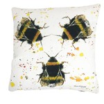 Bree Merryn Three Bees Tweed Backed Cushion Feather 43cm - Bees