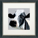 Bree Merryn Elsie Print and Mount Charcoal with Metallic Trim Frame 48cm