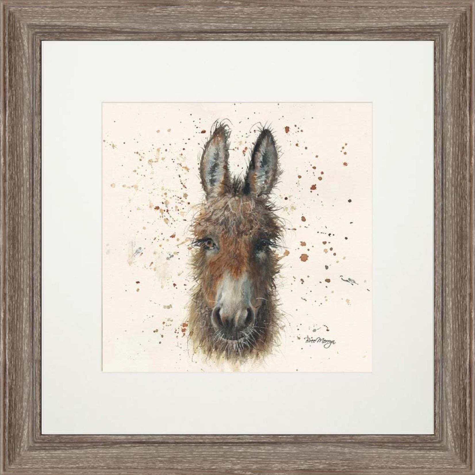 Bree Merryn Daisy Print and Mount Dark Wood Effect Frame 48cm