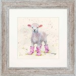 Bree Merryn Lottie in Boots Print and Mount Distressed Wood Effect Frame 48cm
