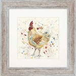 Bree Merryn Kenny Print and Mount Distressed Wood Effect Frame 48cm