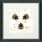 Bree Merryn Three Bees Charcoal Frame 48cm