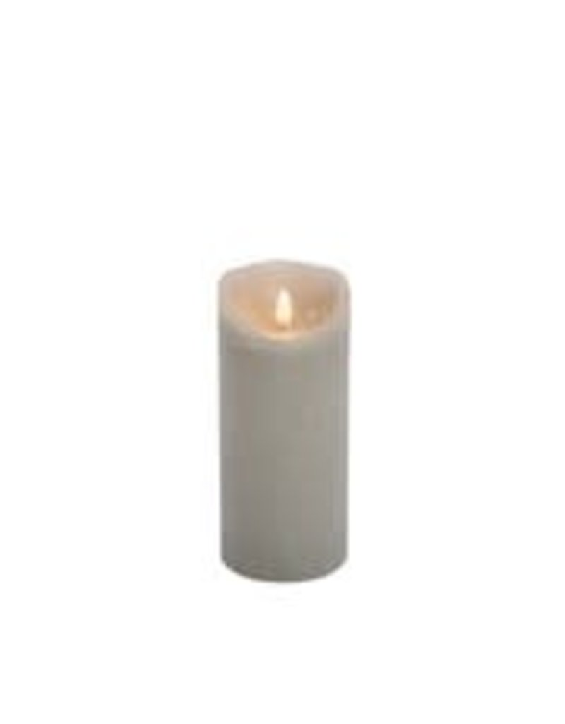 Grey Flickabright Candle 23cm with timer & remote function