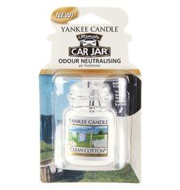 Yankee Candle Yankee Car Jar Ultimate Clean Cotton