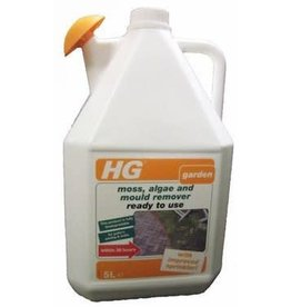 HG HG MOSS, ALGAE AND MOULD REMOVER PATIO'S, PAVING & WALLS 5 LITRE
